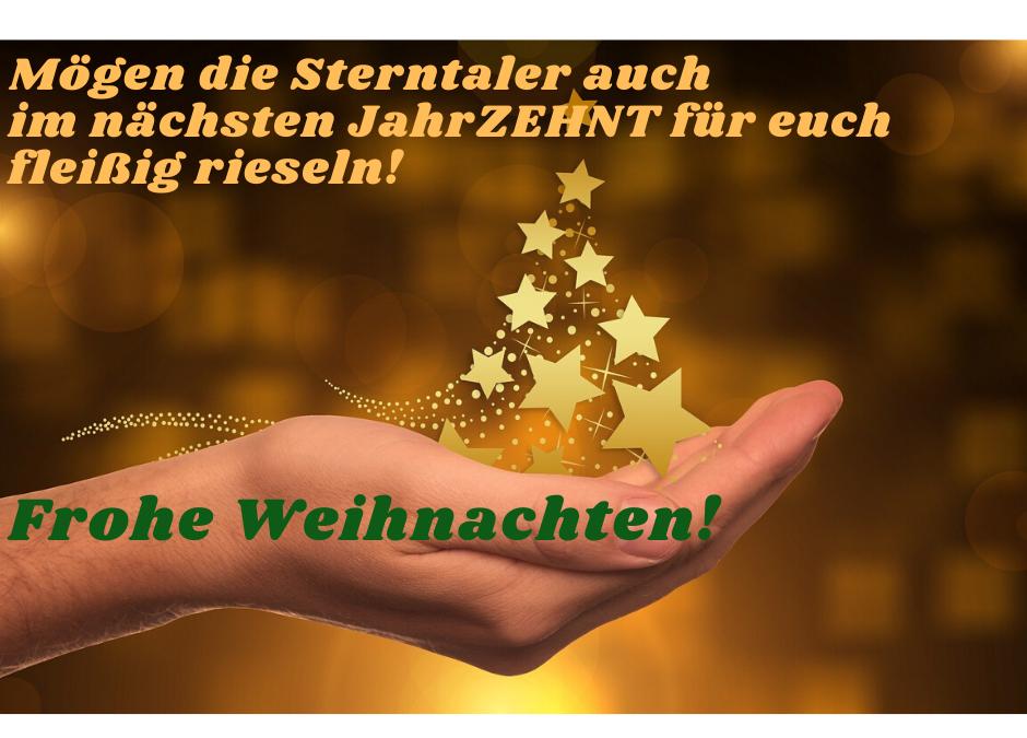 Schöne Feiertage und einen guten Start in ein erfolgreiches, glückliches und gesundes neues JahrZEHNT!